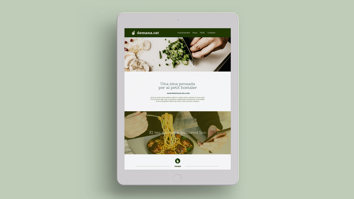 demana-cat - comunicació app-ecommerce per hosteleria